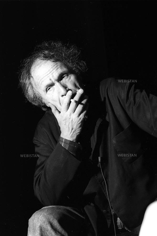 26/04/1989. France. Le violoniste israëlien, Ivry Gitlis. France. Israeli violoa player, Ivry Gitlis.