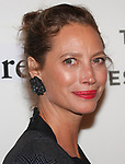 Model Christy Turlington arrives at the Tribeca Talks: Storytellers with Ed Burns & world premiere of Summertime at BMCC Tribeca PAC, on April 27, 2018, during the 2018 Tribeca Film Festival.
