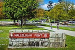 """""""Hallelujah Point"""" sign at Stanley Park, Vancouver, B.C, Canada on a sunny day in early summer."""