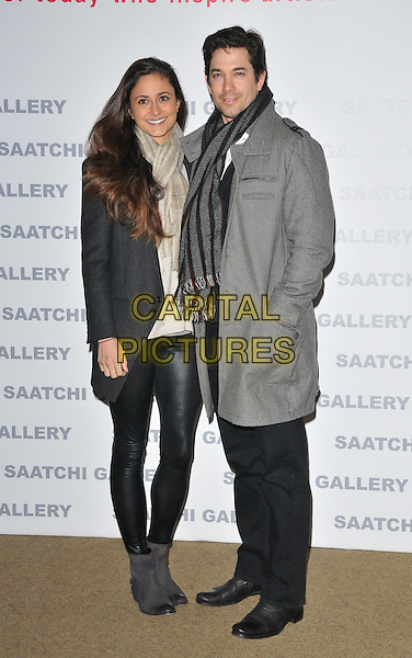 Nathalia Chubin and Adam Garcia at the Painters' Painters exhibition private view &amp; party, Saatchi Gallery, King's Road, London, England, UK, on Tuesday 29 November 2016. <br /> CAP/CAN<br /> &copy;CAN/Capital Pictures