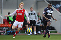 Lucas Akins of Stevenage escapes from Ben Pringle of Rotherham. Rotherham United v Stevenage - FA Cup 1st Round - New York Stadium, Rotherham - 3rd November 2012. © Kevin Coleman 2012.