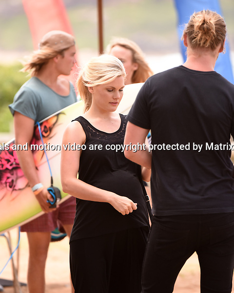 10th November, 2014 SYDNEY AUSTRALIA<br /> EXCLUSIVE <br /> Pictured, George Mason and Bonnie Sveen , cast members of Home and Away doing scenes at the North Palm Beach Surf Club, Palm Beach, NSW. <br /> Director: Danny Raco<br /> <br /> *No internet without clearance*.MUST CALL PRIOR TO USE +61 2 9211-1088. Matrix Media Group.Note: All editorial images subject to the following: For editorial use only. Additional clearance required for commercial, wireless, internet or promotional use.Images may not be altered or modified. Matrix Media Group makes no representations or warranties regarding names, trademarks or logos appearing in the images.