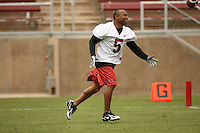 21 April 2007: Troy Walters catches the winning pass during the Alumni's 38-33 victory over the coaching staff during a flag football exhibition at Stanford Stadium in Stanford, CA.
