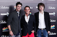 Pol Espargaro, Tito Rabat and Alex Pons attends 40 Principales awards photocall  2012 at Palacio de los Deportes in Madrid, Spain. January 24, 2013. (ALTERPHOTOS/Caro Marin) /NortePhoto