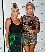 Nadia Essex, Gabby Allen at the DIVA Magazine Awards - Lesbian and bisexual magazine hosts annual awards ceremony at Waldorf Hilton, London, 8th June 2018, England, UK.<br /> CAP/JOR<br /> &copy;JOR/Capital Pictures