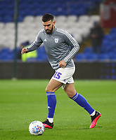 31st January 2020; Cardiff City Stadium, Cardiff, Glamorgan, Wales; English Championship Football, Cardiff City versus Reading; Marlon Pack of Cardiff City during warm up - Strictly Editorial Use Only. No use with unauthorized audio, video, data, fixture lists, club/league logos or 'live' services. Online in-match use limited to 120 images, no video emulation. No use in betting, games or single club/league/player publications