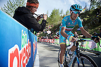 Vincenzo Nibali (ITA/Astana) on the final stretch up Sant'Anna di Vinadio towards pink<br /> <br /> stage 20: Guillestre (FR) - Sant'Anna di Vinadio (IT) 134km<br /> 99th Giro d'Italia 2016