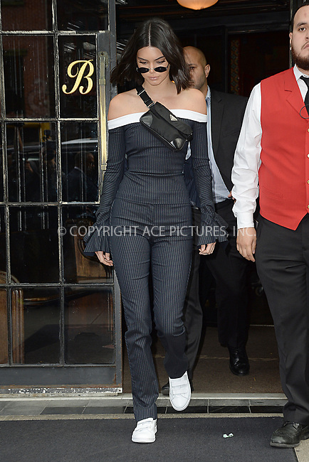 www.acepixs.com<br /> September 8, 2017 New York City<br /> <br /> Kendall Jenner was seen in New York City on September 8, 2017.<br /> <br /> Credit: Kristin Callahan/ACE Pictures<br /> <br /> Tel: 646 769 0430<br /> Email: info@acepixs.com