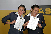 Girls Waka Ama finalists Courtney Sihamu & Anita Iosua. ASB College Sport Young Sportperson of the Year Awards 2007 held at Eden Park on November 15th, 2007.