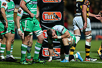 Dejected Manawatu during the Mitre 10 Cup Ranfurly Shield Rugby Match between Taranaki and Manawatu at Yarrow Stadium, New Plymouth, Auckland,  New Zealand. Wednesday 11th October 2017. Photo: Simon Watts / www.bwmedia.co.nz