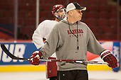 Paul Pearl (Harvard - Associate Head Coach) - The Harvard University Crimson practiced at the United Center on Wednesday, April 5, 2017, in Chicago, Illinois.