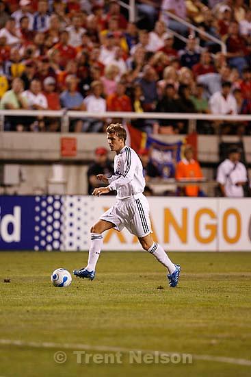 david beckham. Real Salt Lake vs. Real Madrid soccer at Rice-Eccles Stadium.; 8.12.2006<br />