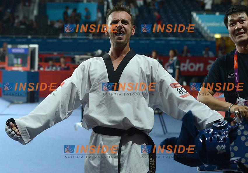 Carlo Molfetta Italia Gold Medal.Taekwondo Men's +80kg.London 11/8/2012 ExCel South Arena 2.London 2012 Olympic games - Olimpiadi Londra 2012.Foto Augusto Bizzi Insidefoto