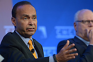 Washington, DC - October 1, 2014: Representative Luis Gutierrez (D-IL) participates in a panel discussion about immigration reform during the Congressional Hispanic Caucus Institute's Policy Conference held at the Ronald Reagan Building in the District of Columbia, October 1, 2014.  (Photo by Don Baxter/Media Images International)