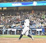 Ryosuke Kikuchi (JPN),<br /> MARCH 21, 2017 - WBC :<br /> Ryosuke Kikuchi of Japan hits a solo home run in the sixth inning during the 2017 World Baseball Classic Semifinal game between United States 2-1 Japan at Dodger Stadium in Los Angeles, California, United States. (Photo by AFLO)
