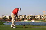 Lee Westwood tees off on the par3 17th tee during Day 2 of the Dubai World Championship, Earth Course, Jumeirah Golf Estates, Dubai, 26th November 2010..(Picture Eoin Clarke/www.golffile.ie)