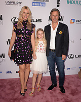 MIAMI, FL - MAY 31: Valeria Mazza her husband Alejandro Gravier and daughter Tatiana attend Miami Fashion Week at the Ice Palace Studios on May 31, 2018 in Miami Florida. <br /> CAP/MPI04<br /> &copy;MPI04/Capital Pictures
