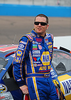 Apr 16, 2009; Avondale, AZ, USA; NASCAR Camping World Series West driver Eric Holmes during the Jimmie Johnson Foundation 150 at Phoenix International Raceway. Mandatory Credit: Mark J. Rebilas-