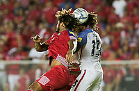 Panama City, Panama - March 28, 2017: The U.S. Men's National team and Panama are all even 1-1 during first half play in a 2018 World Cup Qualifying Hexagonal match at Estadio Rommel Fernandez.
