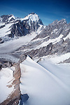 Mount Waddington, British Columbia, Canada, Highest Peak in the Coast Mountains, waddington range, North America, aerial,