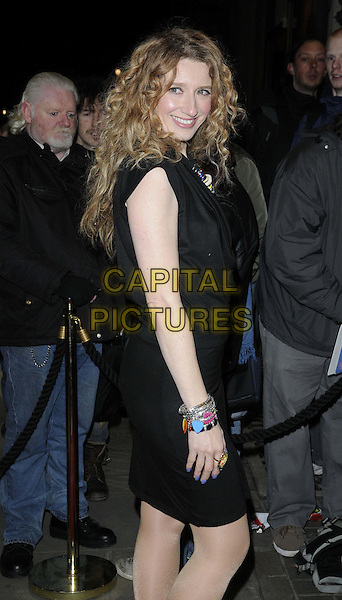 "Melanie Masson.The ""Macbeth"" press night performance, Trafalgar Studios, Whitehall, London, England..February 22nd, 2013.half length black cowl neck sleeveless dress bracelets necklace silver side .CAP/CAN.©Can Nguyen/Capital Pictures."
