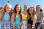 Listowel girls Maeve Gallagher, Jasmine Dalton, clodagh Buckley, Tara Behan, and Elise sheehy at the KDYS Youth day on Sunday in the INEC