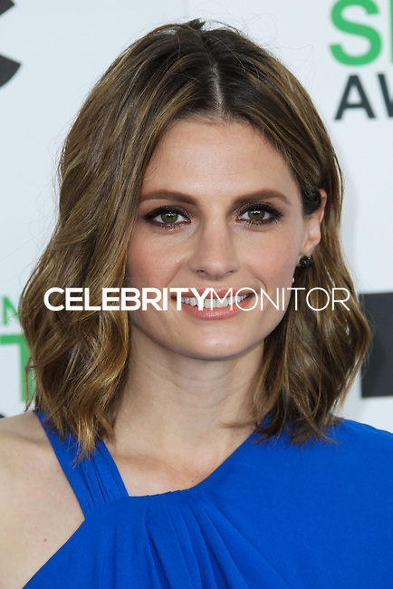 SANTA MONICA, CA, USA - MARCH 01: Stana Katic at the 2014 Film Independent Spirit Awards held at Santa Monica Beach on March 1, 2014 in Santa Monica, California, United States. (Photo by Xavier Collin/Celebrity Monitor)
