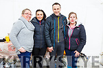 Ann Marie Murphy, Miriam Costello ,James Costello and Linda O'Connor helping behind the scene at the Castleisland Coursing meeting on Monday.