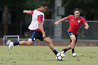 Nashville, TN - June 29, 2017: Cristian Roldan during Training @ Lipscomb University prior to their 2017 Gold Cup.