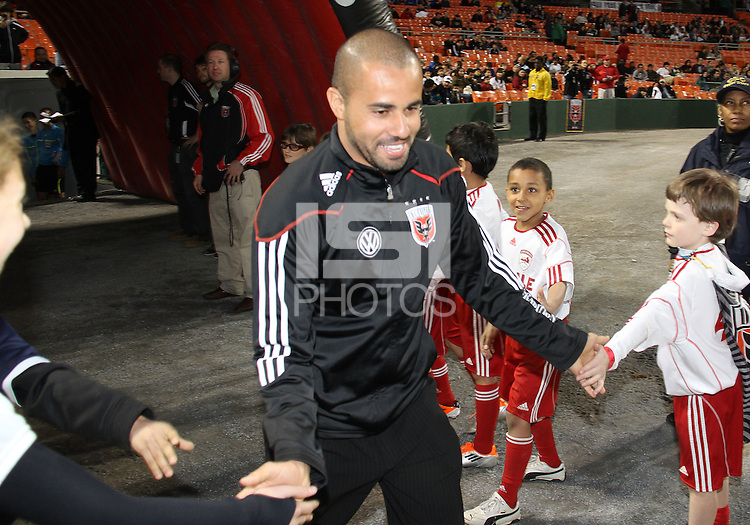 Fred#27 of D.C. United during the opening match of the 2011 season against the Columbus Crew at RFK Stadium, in Washington D.C. on March 19 2011.D.C. United won 3-1.