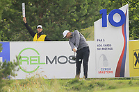 Lucas Bjerregaard (DEN) on the 10th tee during Round 2 of the D+D Real Czech Masters at the Albatross Golf Resort, Prague, Czech Rep. 02/09/2017<br /> Picture: Golffile | Thos Caffrey<br /> <br /> <br /> All photo usage must carry mandatory copyright credit     (&copy; Golffile | Thos Caffrey)