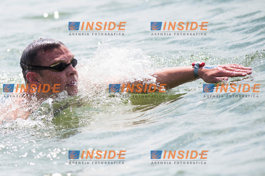 BRYAN Christopher IRL<br /> Hoorn, Netherlands <br /> LEN 2016 European Open Water Swimming Championships <br /> Open Water Swimming<br /> Men's 5km<br /> Day 02 12-07-2016<br /> Photo Giorgio Perottino/Deepbluemedia/Insidefoto