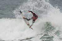 BELLS BEACH, Torquay, Victoria, Australia    (Tuesday, April 3, 2018) Ezekiel Lau (HAW) - Top seeds continue to fall at the Rip Curl Pro Bells Beach, Stop No. 2 on the World Surf League (WSL) Championship Tour (CT), after completing men&rsquo;s Rounds 3 and 4, and the women&rsquo;s Quarterfinals in four-to-six foot (1.2 - 2 metre) conditions. <br /> <br /> Today witnessed all but three WSL Championships dispatched with John John Florence (HAW), Joel Parkinson (AUS), Adriano de Souza (BRA), and Carissa Moore (HAW) out of the draw. Now, only Mick Fanning (AUS), Stephanie Gilmore (AUS), and Gabriel Medina (BRA) represent the class of elite World Champions heading into the Final Series of the iconic Rip Curl Pro Bells Beach event. <br /> <br /> Two-time, reigning WSL Champion Florence is out of the Rip Curl Pro Bells Beach after losing to compatriot Ezekiel Lau (HAW) in the opening heat of the day. In Round 3 Heat 7, Lau put the pressure on Florence by jostling for position. Lau&rsquo;s physical assertion seemed to throw Florence off his game as he struggled to find a wave of substance. Lau, on the other hand, looked confident and powerful in that heat as well as in Round 4, where he defeated Frederico Morais (PRT) and Conner Coffin (USA). <br /> <br /> Photo: joliphotos.com
