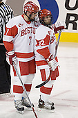 David Van der Gulik, Brad Zancanaro - The Boston University Terriers defeated the Boston College Eagles 2-1 in overtime in the March 18, 2006 Hockey East Final at the TD Banknorth Garden in Boston, MA.