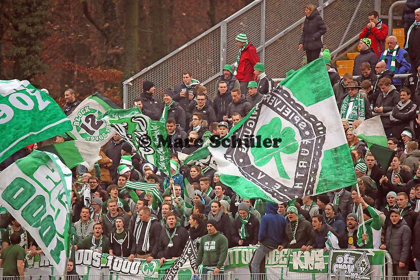 Fuerther Fans - SV Darmstadt 98 vs. SpVgg. Greuther Fuerth, Stadion am Boellenfalltor