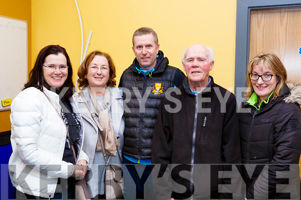 Dr Crokes supporters at the Kerry Scor Na nOg in Austin stacks Park on Thursday evening last are,  -r, Margaret O'Mahoney, Theresa Hickey, Mark Cooper, Jackie Looney and Noreen Cooper.