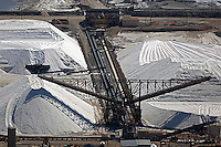 aerial photograph salt piles Newark, California