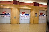 Miscellaneous elevator bank with convention logos inside the Quicken Loans Arena in Cleveland, Ohio, site of the 2016 Republican National Convention on Saturday, July 17, 2016.<br /> Credit: Ron Sachs / CNP<br /> (RESTRICTION: NO New York or New Jersey Newspapers or newspapers within a 75 mile radius of New York City)