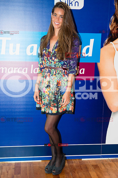 Spanish synchronized swimming Ona Carbonell during the presentation of the new epilator machine Silk´n Infinity at El Corte Ingles in Madrid. April 28, 2016. (ALTERPHOTOS/Borja B.Hojas) /NortePhoto
