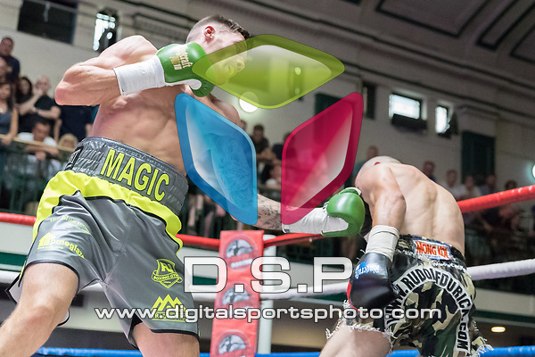 Sam Gilley vs Rudolf Durica 4x3 - Welterweight Contest During Goodwin Boxing: Epsilon. Photo by: Simon Downing.<br /> <br /> Sunday 09th July 2017 - York Hall, Bethnal Green, London, United Kingdom.