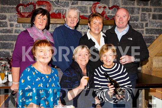 June Carey, seated front centre, celebrating a special birthday in the Brogue Inn on Friday morning last with her friends. Seated l to r: Ann Boyle, Birthday girl June Carey and Eileen Stack. Standing l to r: Eileen McQuinn, David Hanbidge, Eleanor Carrig and Aidan Lucid.