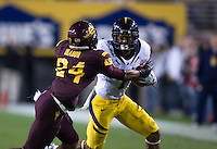 Marvin Jones of California in action during a game against Arizona State at Sun Devil Stadium in Tempe, California on November 25th, 2011  - California defeated Arizona State  47 - 38