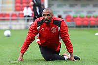 Nathan Pond of Fleetwood Town warming up before the Sky Bet League 1 match between Rotherham United and Fleetwood Town at the New York Stadium, Rotherham, England on 7 April 2018. Photo by Leila Coker.