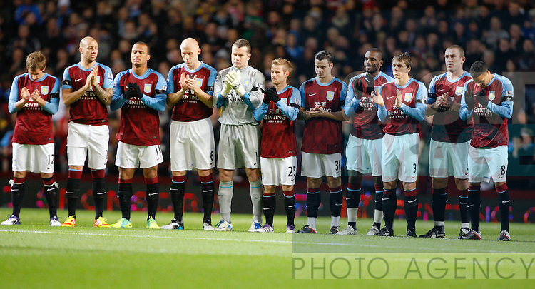 Aston Villa players tribute to Gary Speed