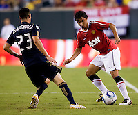 Fabio, Nick Zimmerman. Manchester United defeated Philadelphia Union, 1-0.