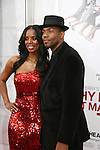 One Life To Live's Tobias Truvillion poses with Tasha Smith (who is in thie movie) - I think she is his sister - as they attend the premiere of Tyler Perry's Why Did I Get Married Too? on March 22, 2010 at the School Of Visual Ats Theater, New York City, NY. (Photos by Sue Coflin/Max Photos)