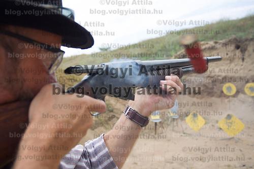 Cowboy Action Shooting European Championship in Dabas, Hungary on August 11, 2012. ATTILA VOLGYI