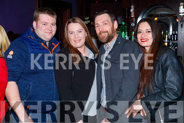 Brendan O'Keeffe, Kathleen O'Keeffe, Giles Legg and Kerry Legg, enjoying the Beard Festival in Causeway on Saturday night last.