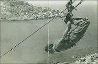 BNPS.co.uk (01202 558833)<br /> Pic: DNW/BNPS<br /> <br /> Daring Colour Sergeant Willie Paterson scales down a cliff<br /> <br /> The remarkable exploits of a hero Royal Marine who survived a 100ft fall before distinguishing himself in battle can be revealed after his bravery medals sold for over £17,000.<br /> <br /> Colour Sergeant Willie Paterson, of 45 Commando, broke nearly every bone in his body when his rope snapped in a training accident in Dartmoor, Devon, in 1962.<br /> <br /> Yet, just two years later, with a metal plate in his arm, he led his men in perilous night time missions against native guerrilla fighters over mountainous terrain during the Radfan Campaign of 1964.<br /> <br /> The campaign was part of the Aden Emergency, an armed insurgency by nationalists against British forces stationed in South Arabia, now part of Yemen.