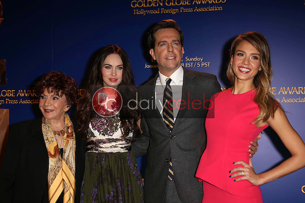 Aida Takla-O'Reilly, Megan Fox, Ed Helms and Jessica Alba<br /> at the 70th Annual Golden Globe Awards Nominations Announcement,  Beverly Hilton, Beverly Hills, CA 12-13-12<br /> David Edwards/DailyCeleb.com 818-249-4998